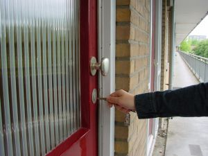 landlord entering home on tenant screening blog